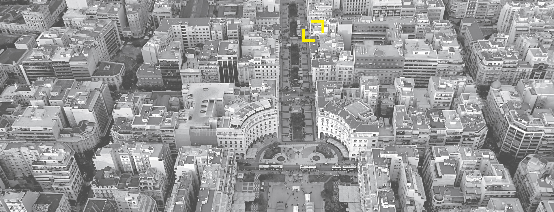 Thessaloniki Center, Aristotelous square, aerial Photo